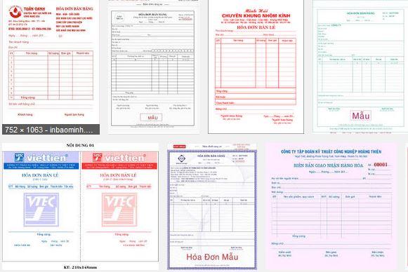 in hóa đơn gtgt tại Đồng Nai